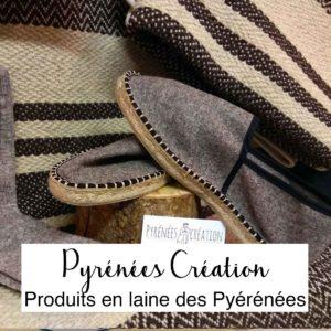 Pyrénées création-tapis-espadrille-chaussette-laine des pyrénées